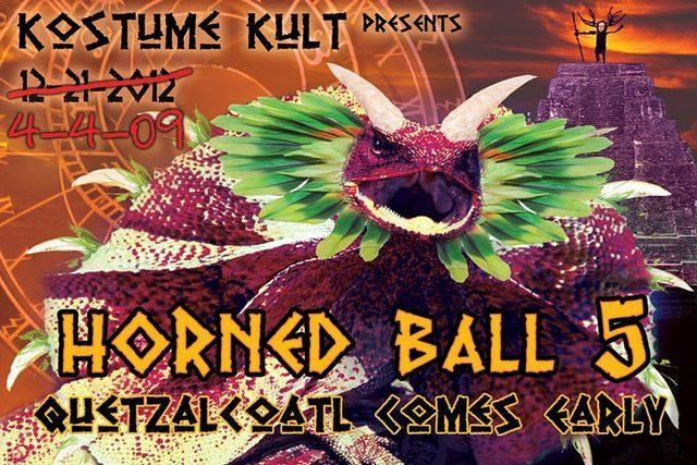 "Kostume Kult's 5th Annual Horned Ball, themed ""Quetzalcoatl Come Early"" with Globesonic and Reality Sandwich..."
