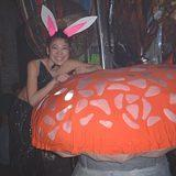 Bunny's like shrooms - Rubalad's Alice in Wonderland - Mad Hatter party, 3-2-02