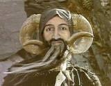 Bin Laden the Enchanter - Anonymous posting appears to be a photoshopped Bin Laden within Tim the Enchanter costume from Monty Python & the Holy Grail