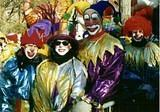 Colorful Clowns - NYC Macy's Thanksgiving Parade '00