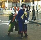 Rollerblading Clowns - NYC Macy's Halloween Parade