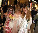 Bloomingdales!  Where 100+ zombies walked through the cosmetics section!