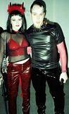 Horned Couple - New York City Halloween Party, Chelsea Art Gallery - 10/28/00