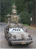 Mirabilis Statuarius Vehiculum - The world's most extraordinary daily driven car. You should see the back. (gothic) Created and driven by Extremo the Clown