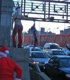 Stripping Santas on the Williamsburg Bridge (11am)