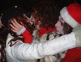 Santa love1 - NYC SantaCon, 2002