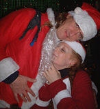 Santa love3 - NYC SantaCon, 2002