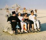 Couch - Art Car - This is the way to travel the playa! Burning Man 2001.  To edit record e-mail Editor@CostumeNetwork.com.